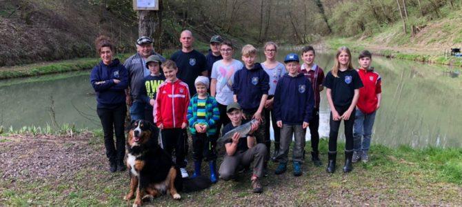 Erfolgreiches Forellenfischen der Vereinsjugend am 14.04.2018