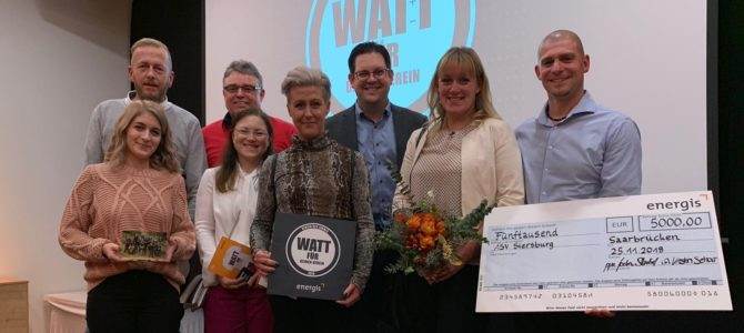 """Energis GmbH """"Watt für dein Verein"""" – ASV """"untere Nied"""" Siersburg e.V. ist Verein des Jahres 2018!"""